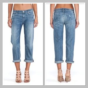 MOTHER Denim 'The Pretender' Cropped & Rolled Jean